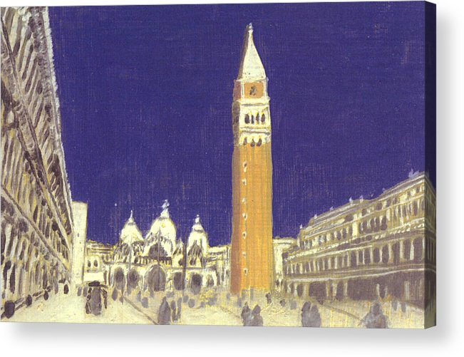 Landscape Acrylic Print featuring the painting After St. Mark's Square Towards The Basilica by Hyper - Canaletto
