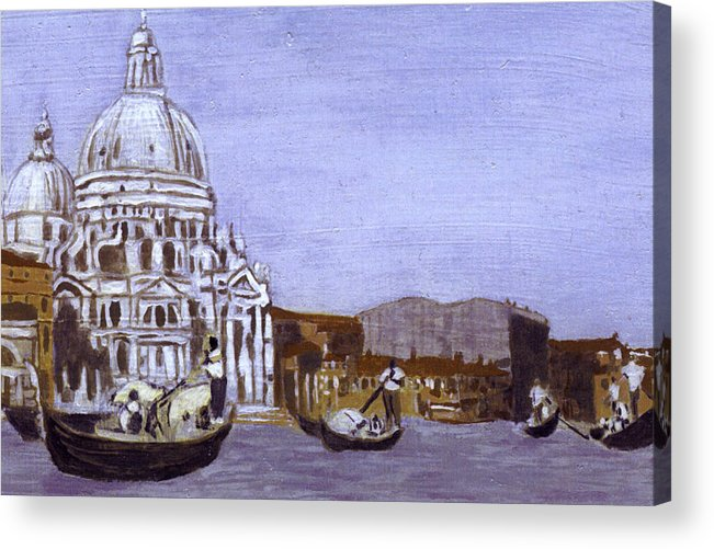 Landscape Acrylic Print featuring the painting After The Grand Canal And The Church Of The Salute by Hyper - Canaletto