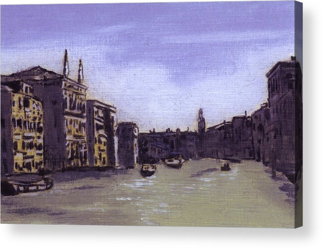 Landscape Acrylic Print featuring the painting After The Grand Canal From Campo San Vio Near The Rialto Bridge by Hyper - Canaletto