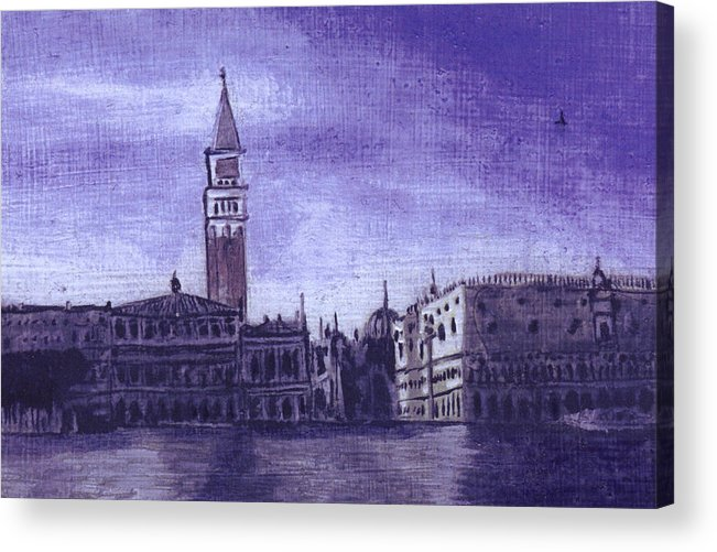 Landscape Acrylic Print featuring the painting After The Pier At San Marco by Hyper - Canaletto