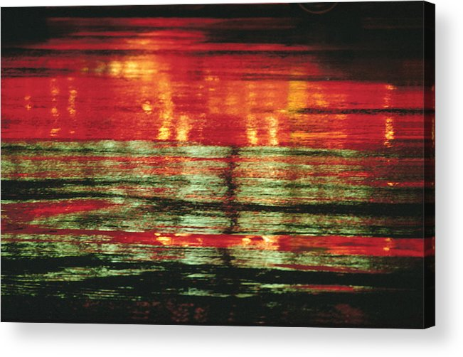 Abstract Acrylic Print featuring the photograph After The Rain Abstract 1 by Tony Cordoza