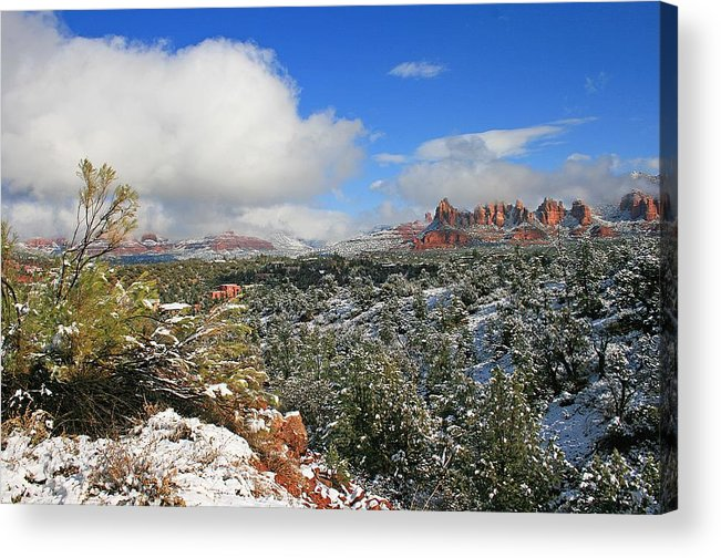 Sedona Acrylic Print featuring the photograph After The Storm by Gary Kaylor