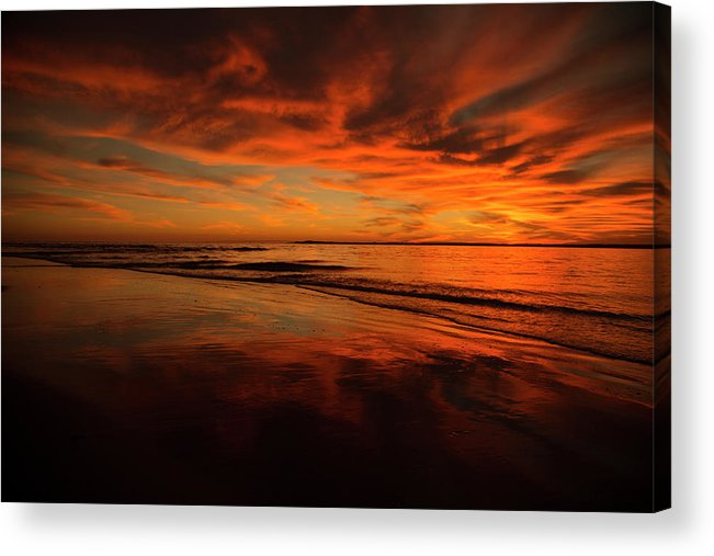 Romance Acrylic Print featuring the photograph After The Sun by Betsy Knapp