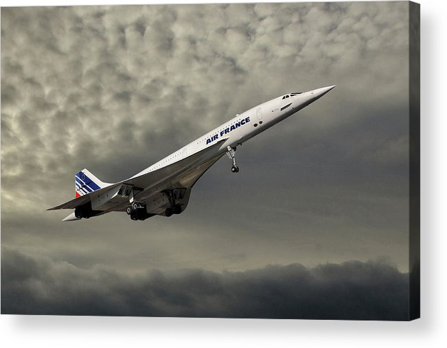 Air France Acrylic Print featuring the photograph Air France Concorde 116 by Smart Aviation