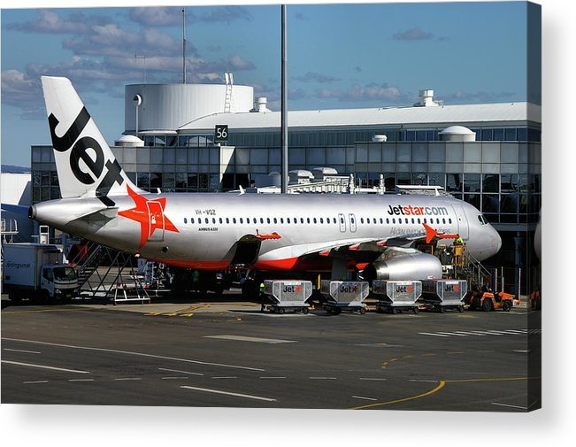 Airbus Acrylic Print featuring the photograph Airbus A320-232 by Tim Beach