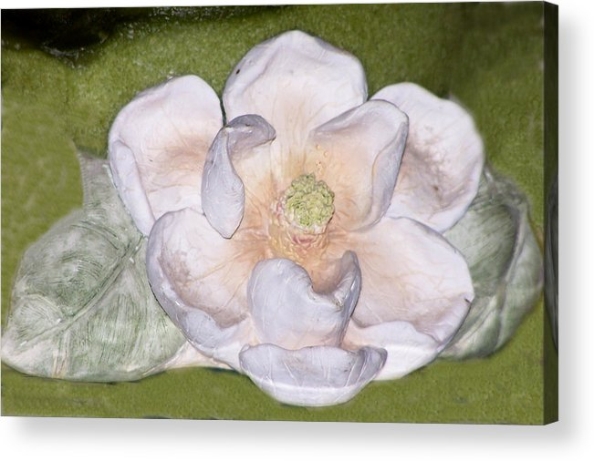Flower Acrylic Print featuring the digital art Alien Bloom by Chuck Shafer