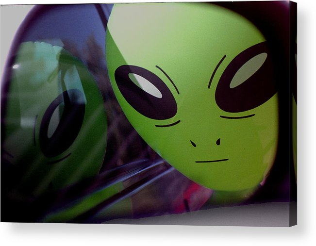 Alien Acrylic Print featuring the photograph Alien Is Closer Than He Appears by Richard Henne