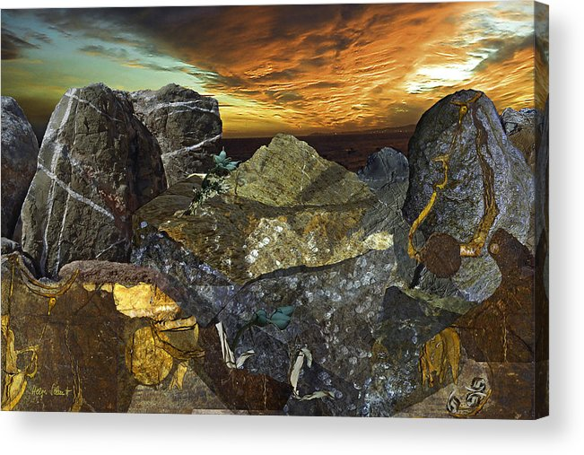 Fantasy Acrylic Print featuring the digital art Alien Riff by Helga Schmitt