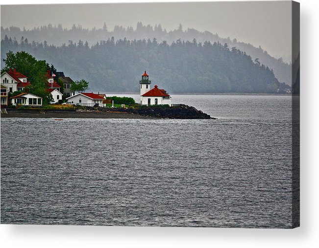 Lighthouse Acrylic Print featuring the photograph Alki Point by Diana Hatcher