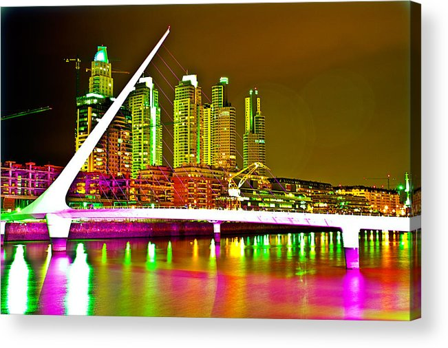 Buenos Acrylic Print featuring the photograph All Night Puerto Madero by Francisco Colon