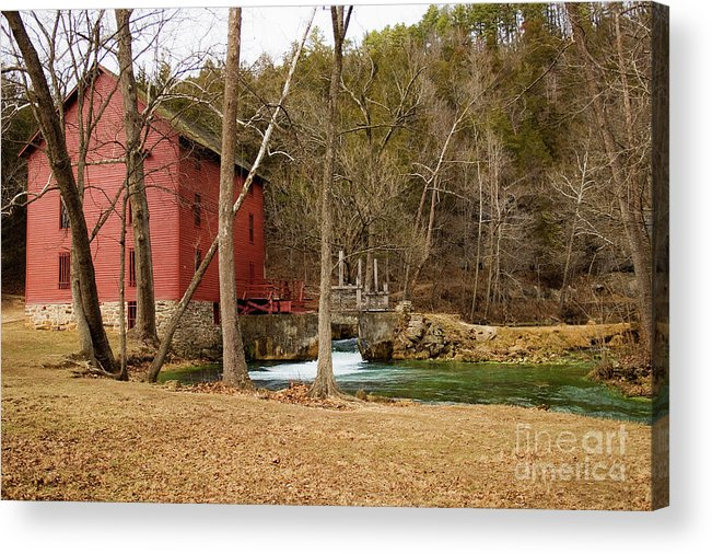 Alley Spring Acrylic Print featuring the photograph Alley Mill by Reva Dow