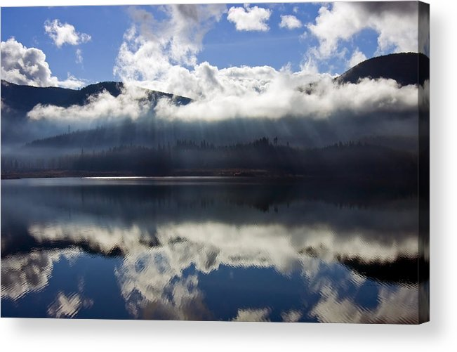 Heavenly Light Acrylic Print featuring the photograph Almost Heaven by Mike Dawson