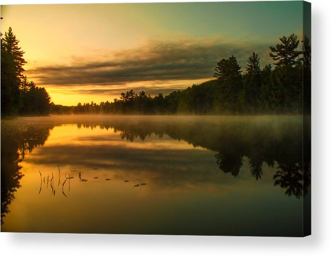 Lake Acrylic Print featuring the photograph Am Whispers by Bulik Elena