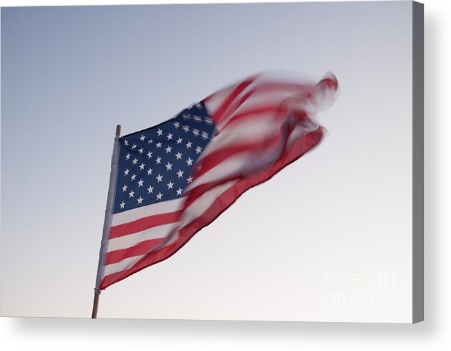 American Acrylic Print featuring the photograph American Flag by Robert Gaines
