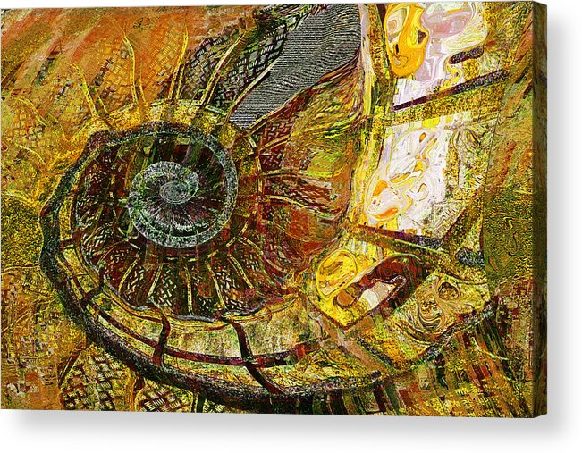 Ammonite Acrylic Print featuring the painting Ammonite by Anne Weirich