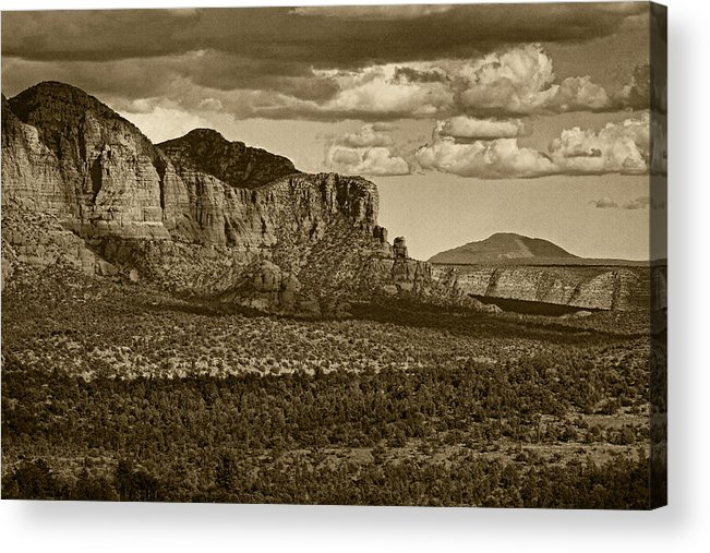 Red Rock Crossing Acrylic Print featuring the photograph An Ancient View Tint by Theo O'Connor