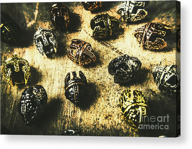 History Acrylic Print featuring the photograph Ancient Battlefield Armour by Jorgo Photography - Wall Art Gallery