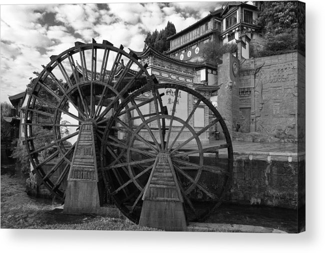 Asia Acrylic Print featuring the photograph Ancient Chinese Waterwheels by Michele Burgess