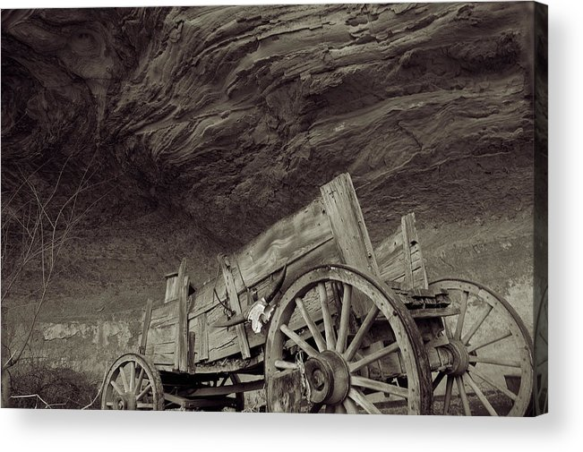 Old West Acrylic Print featuring the photograph Angels Landing by Edwin Voorhees
