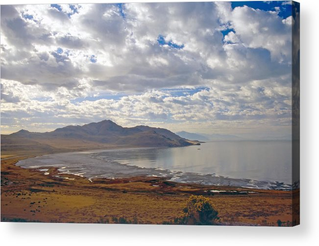 Bay Acrylic Print featuring the photograph Antelope Island 2 by Steve Ohlsen