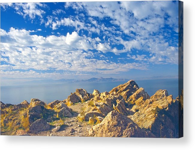 Landscape Acrylic Print featuring the photograph Antelope Island 4 by Steve Ohlsen
