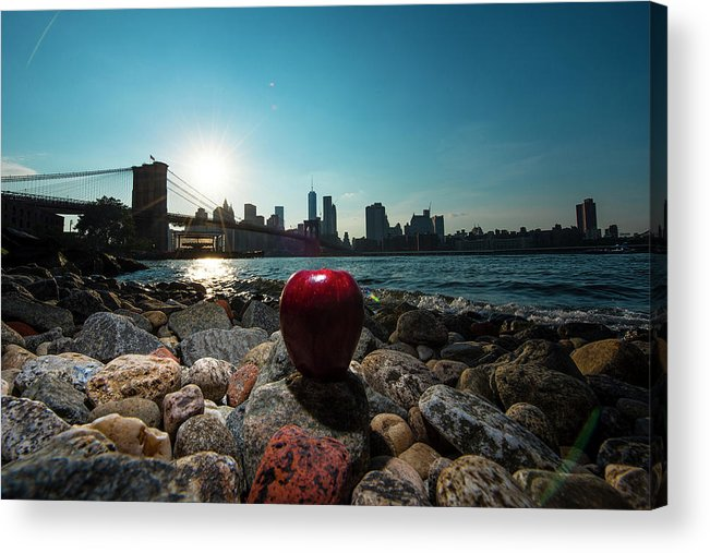 Acrylic Print featuring the photograph Apple On The Rocks by Michael Rivera