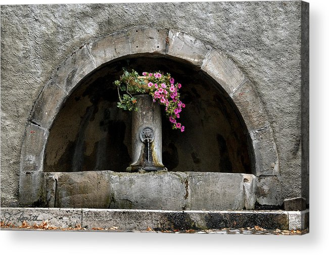 Arch Acrylic Print featuring the photograph Arched Fountain by Joe Bonita