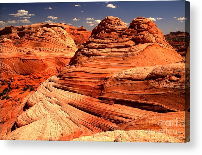 Coyote Buttes Acrylic Print featuring the photograph Arizona Desert Landscape by Adam Jewell