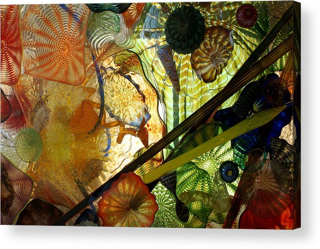 Art Glass Acrylic Print featuring the photograph Art Glass by Sonja Anderson