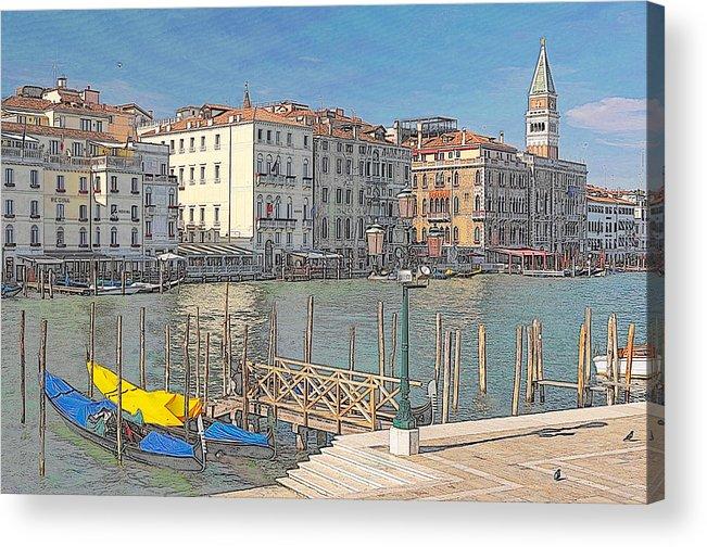Europe Acrylic Print featuring the digital art Artist Impression Of Venice by Johan Elzenga