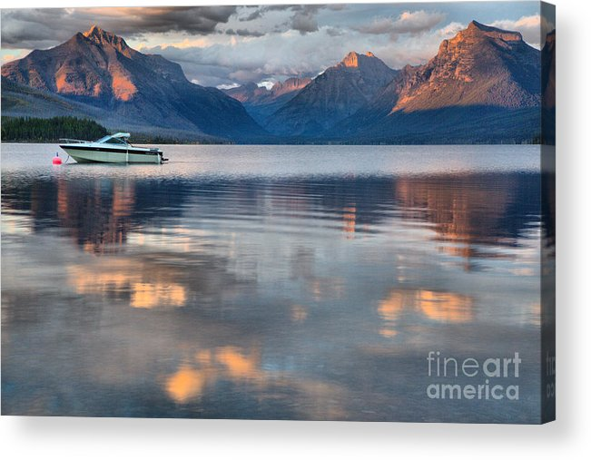 Lake Mcdonald Acrylic Print featuring the photograph As The Day Ends At West Glacier by Adam Jewell