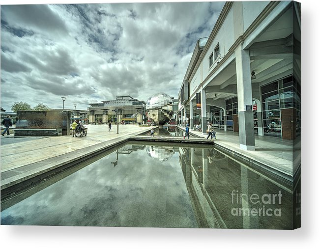 Bristol Acrylic Print featuring the photograph at Bristol by Rob Hawkins