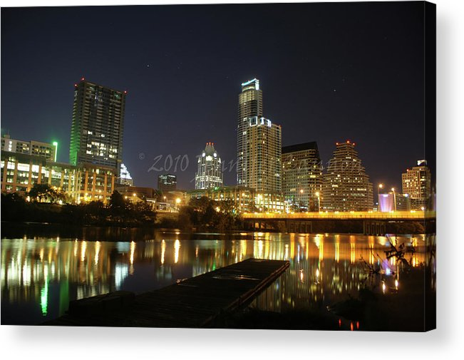 Austin Acrylic Print featuring the photograph Austin Skyline by Jennifer Cannon