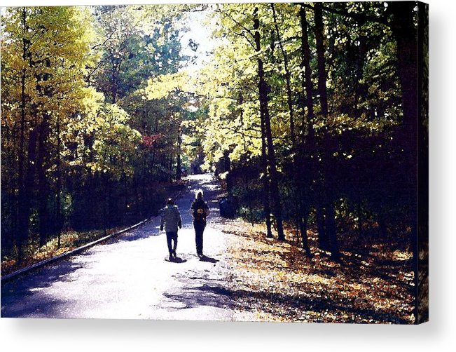 Autum Acrylic Print featuring the photograph Autum Walking 2 Wcaedb2 by Lyle Crump