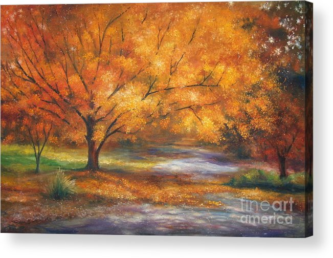 Fall Acrylic Print featuring the painting Autumn by Ann Cockerill