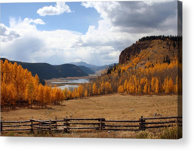 Landscape Acrylic Print featuring the photograph Autumn In Colorado by Gayle Johnson