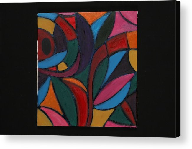 Abstract Acrylic Print featuring the painting Autumn Light by Mary Silver