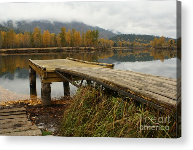 River Acrylic Print featuring the photograph Autumn On The River by Idaho Scenic Images Linda Lantzy