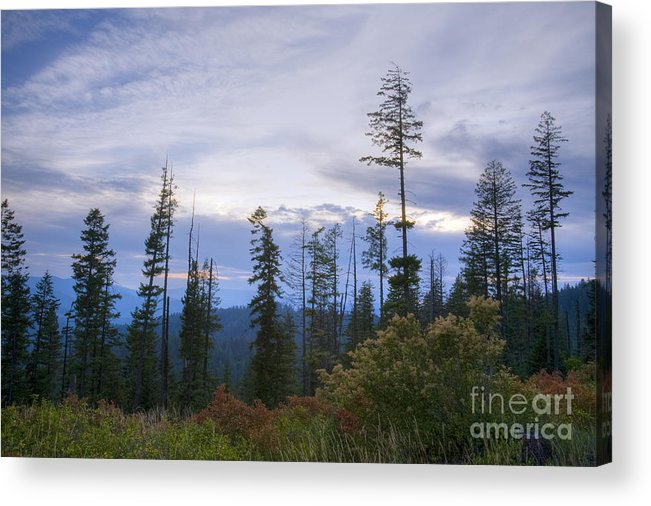 Ridge Acrylic Print featuring the photograph Autumn Ridge by Idaho Scenic Images Linda Lantzy