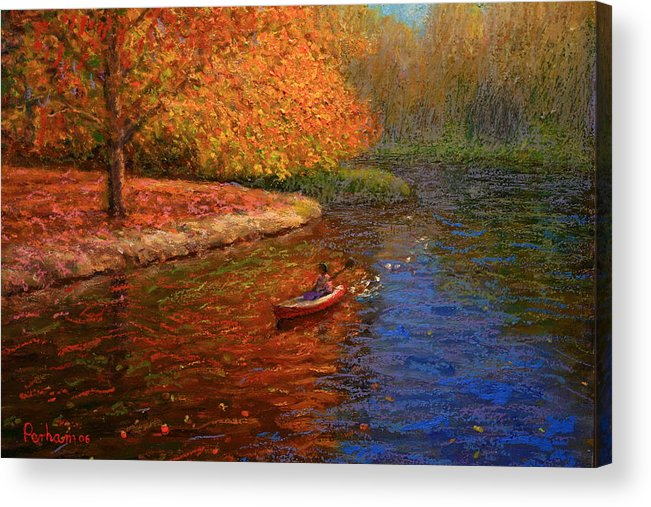Autumn Acrylic Print featuring the painting Avon In Autumn by Terry Perham