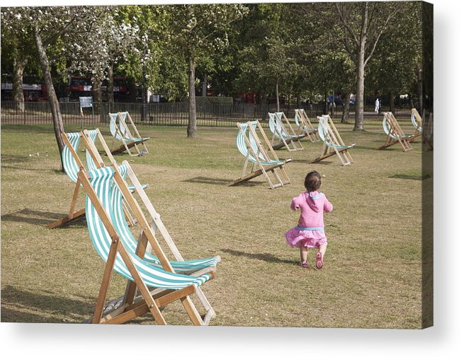 Hyde Acrylic Print featuring the photograph Baby In Hyde Park. by Christopher Rowlands
