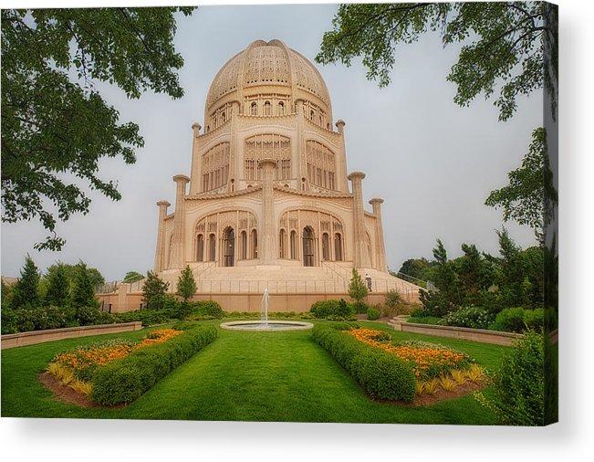 Baha\'i Temple - Wilmette - Illinois Acrylic Print by Photography By Sai