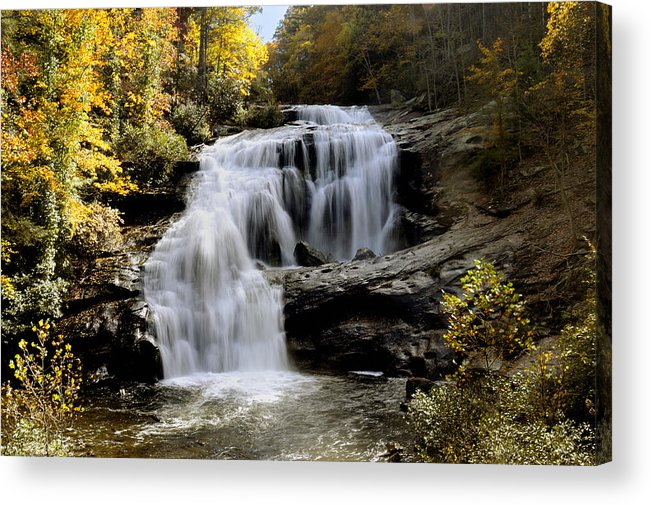Autumn Acrylic Print featuring the photograph Bald River Falls In Autumn by Darrell Young