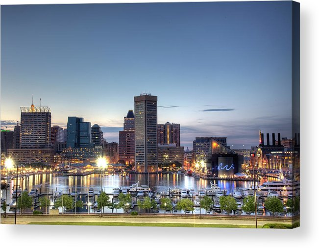 Baltimore Acrylic Print featuring the photograph Baltimore Harbor by Shawn Everhart