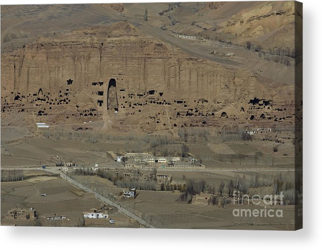 Bamiyan Acrylic Print featuring the photograph Bamiyan's Empty Alcoves by Tim Grams