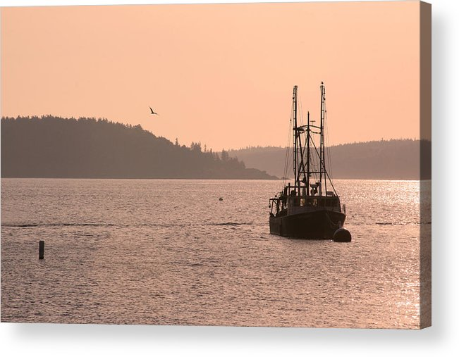Acadia National Park Acrylic Print featuring the photograph Bar Harbor Sunrise by Brian M Lumley