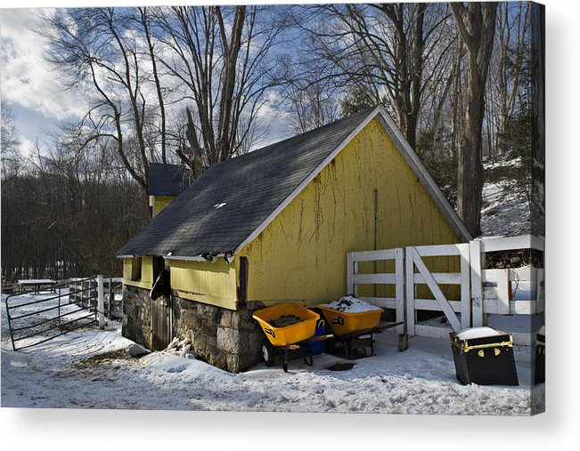 Horse Acrylic Print featuring the photograph Barn In Winter by Jack Goldberg