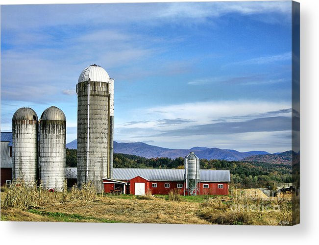 Rural Acrylic Print featuring the Barn With A View by Deborah Benoit