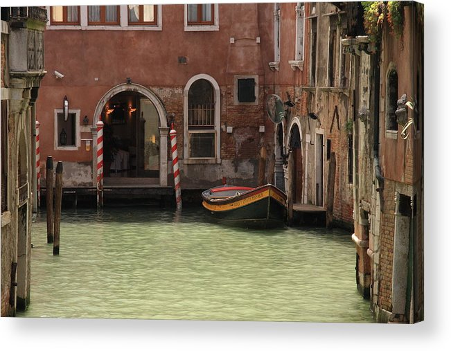 Venice Acrylic Print featuring the photograph Basin In Venice by Michael Henderson