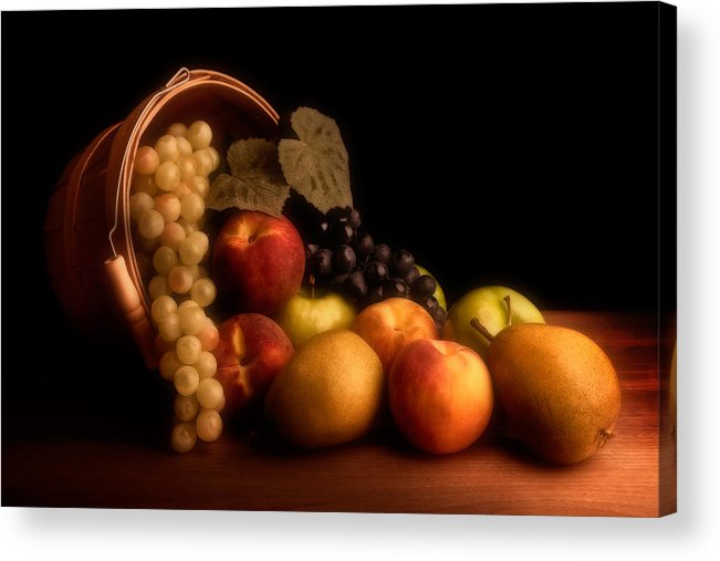 Fruit Acrylic Print featuring the photograph Basket Of Fruit by Tom Mc Nemar
